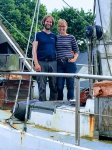 Baltic Annet en Marijn Achterkamp zeilen zeilschip SeaWind Adventures zeilexpeditie