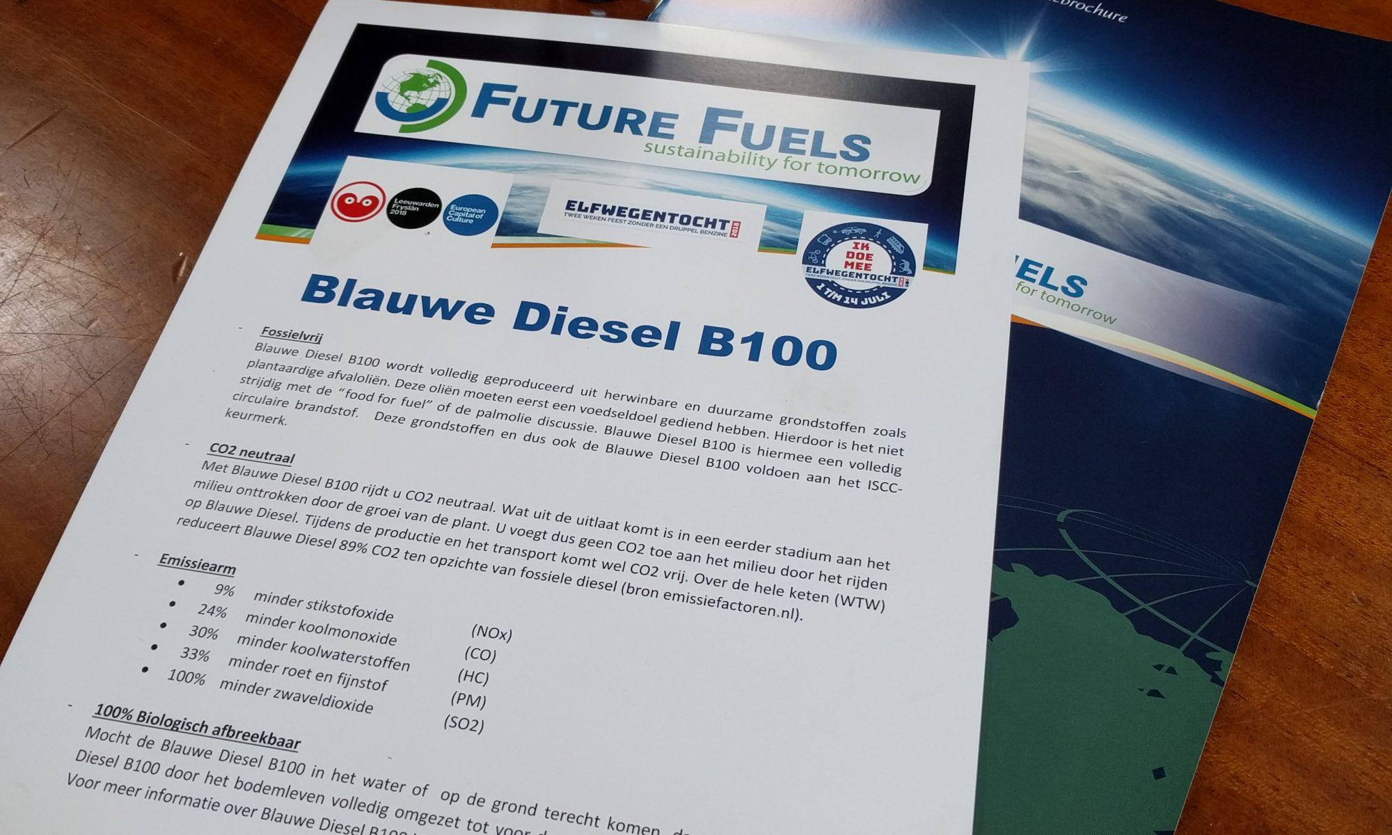 blauwe diesel Baltic zeilschip zeilen duurzaam biologisch afbreekbaar elfwegentocht friesland