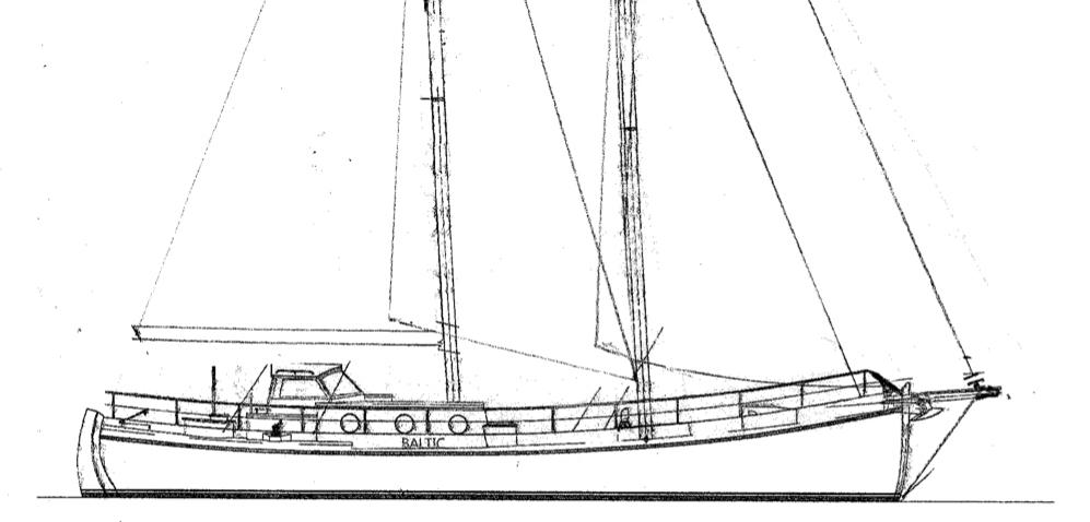 Baltic zeilschip zeilen Colin Archer