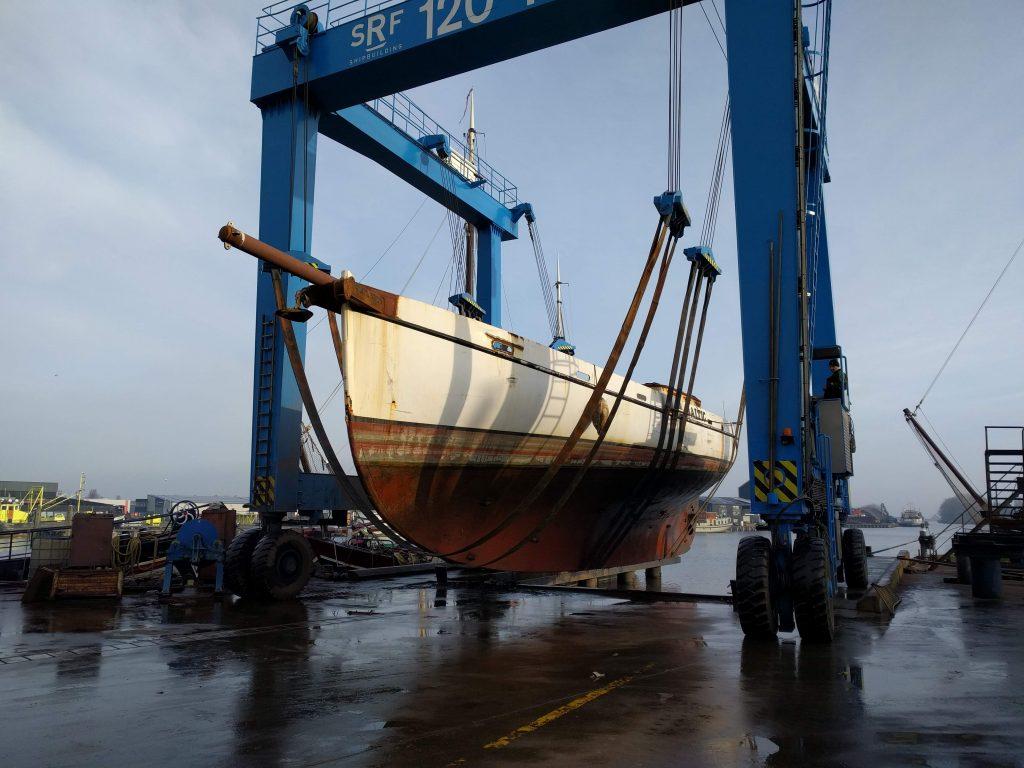 Baltic zeilschip SRF helling