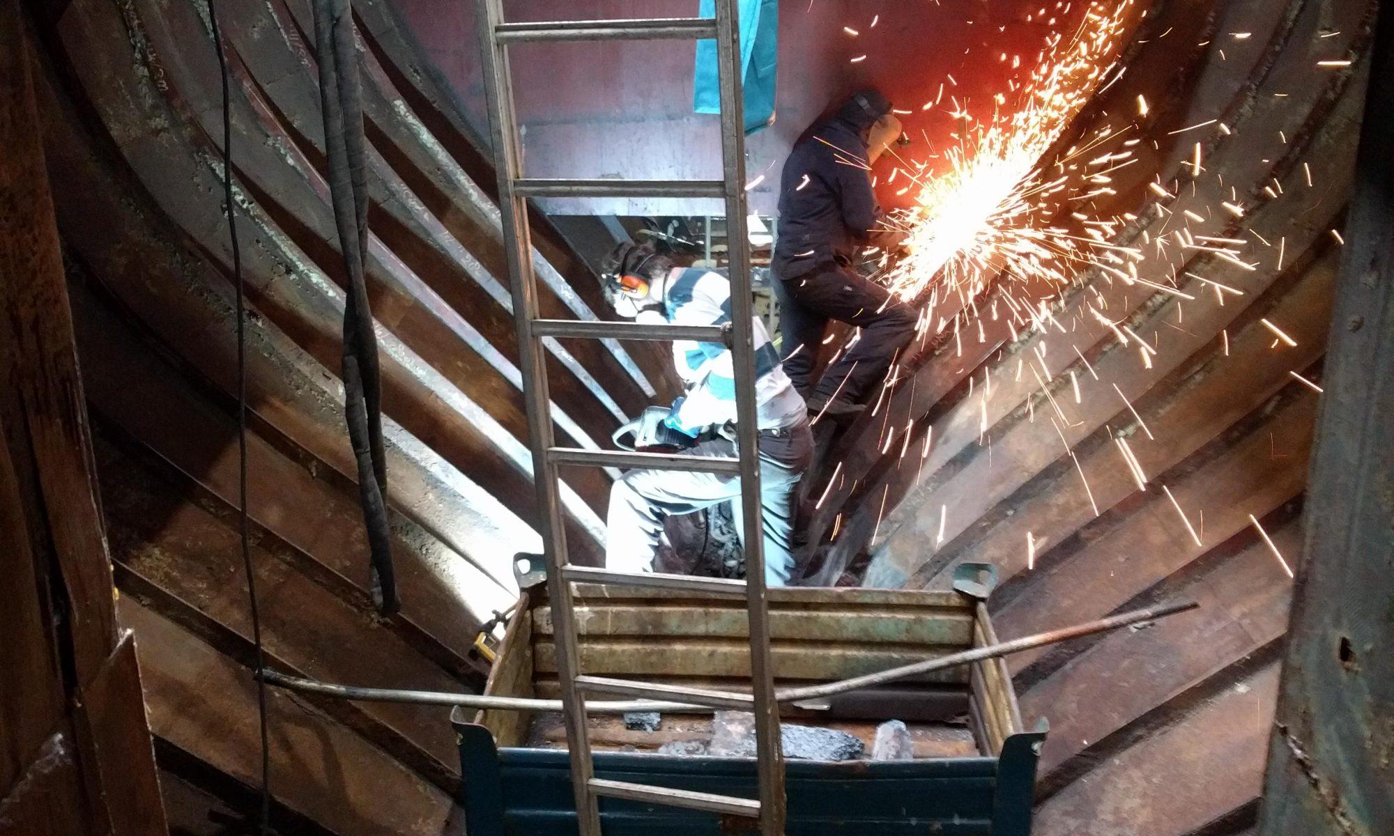 Baltic zeilschip beton bikken