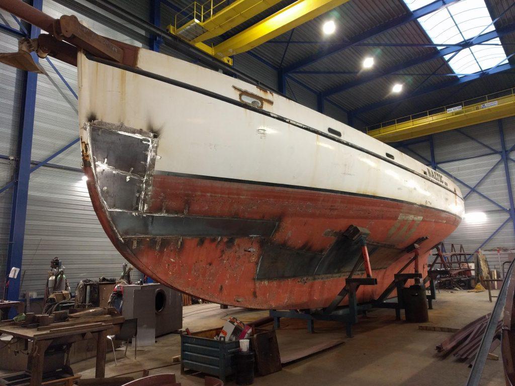 Baltic zeilschip refit laswerk romp platen vernieuwen 8mm staal