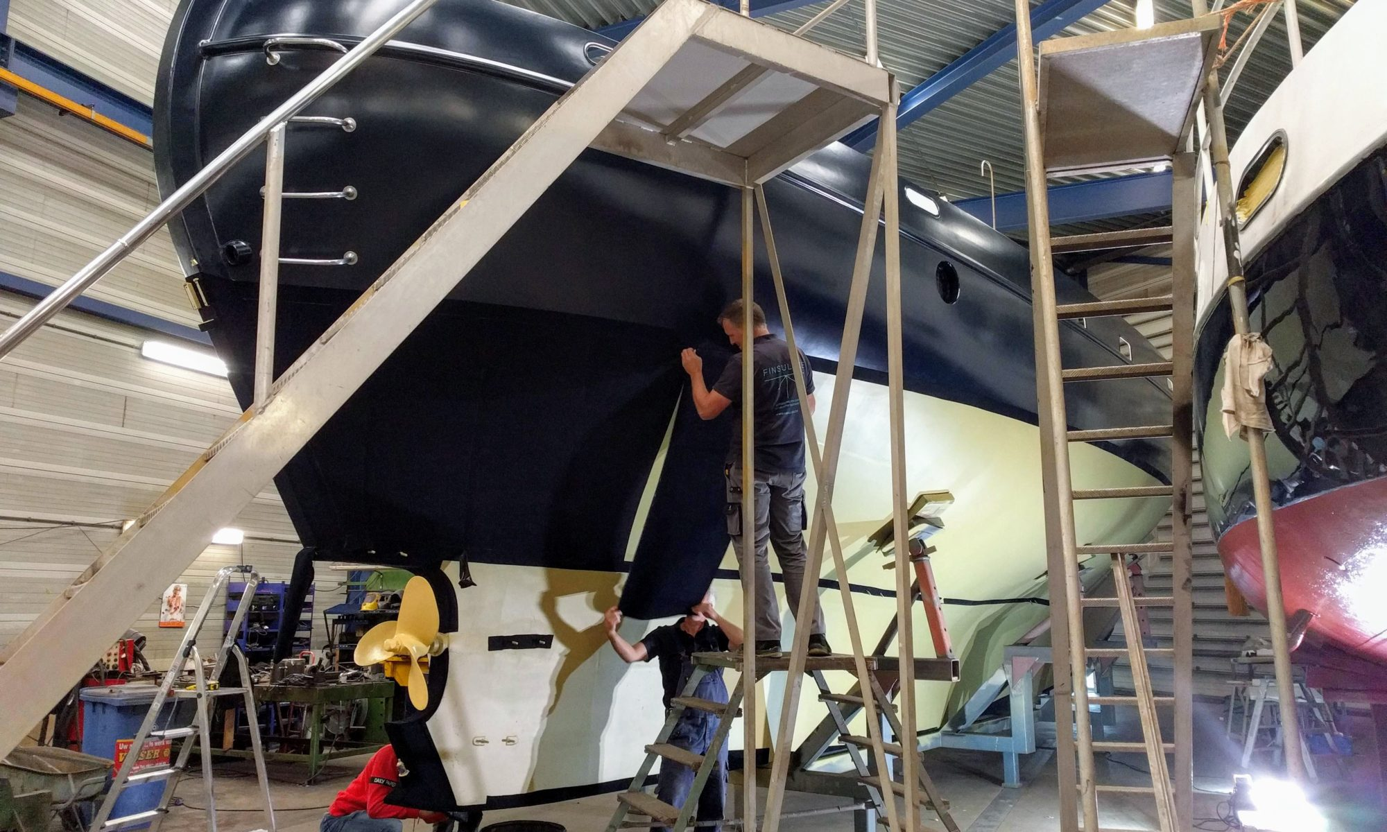 Finsulate antifouling milieuvriendelijk Baltic zeilschip