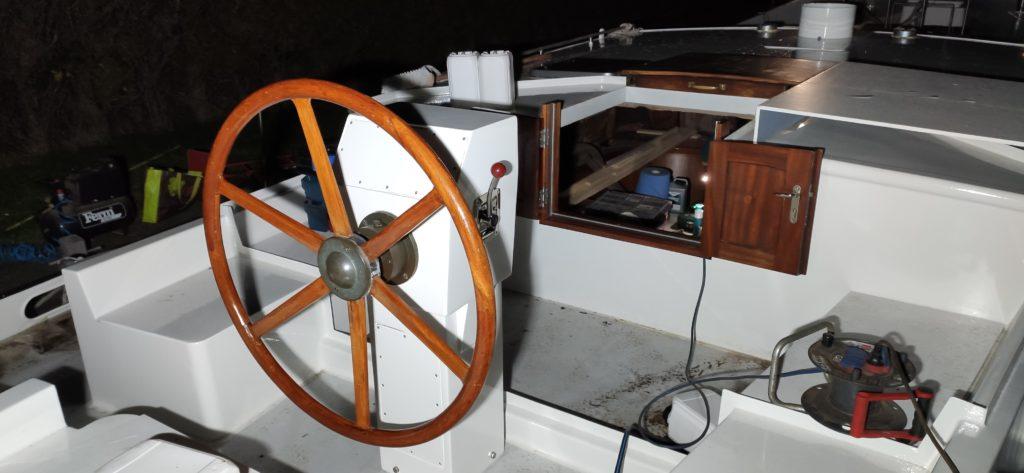 Baltic zeilschip stuurwiel