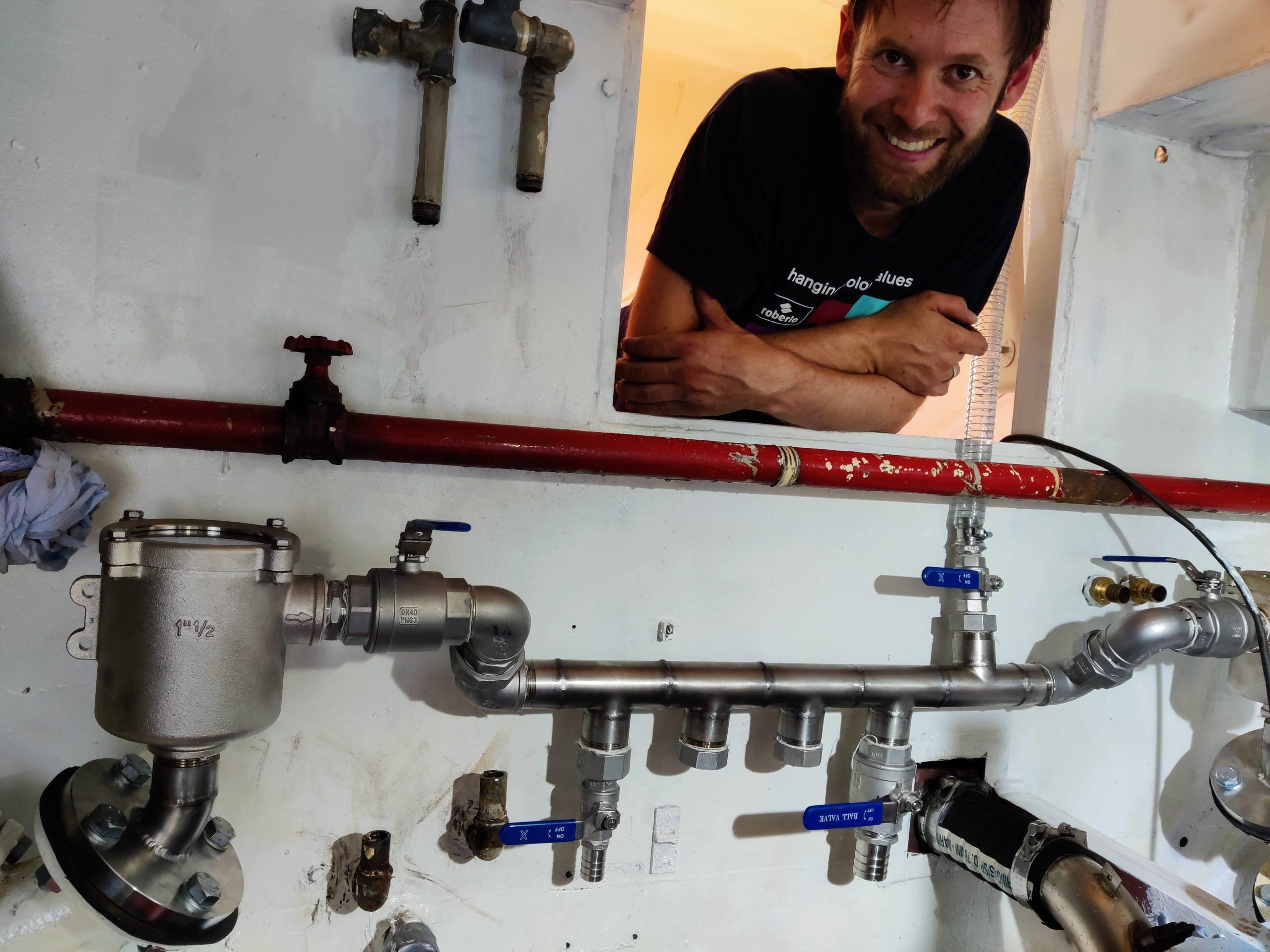 Baltic zeilschip cross-over koelwater