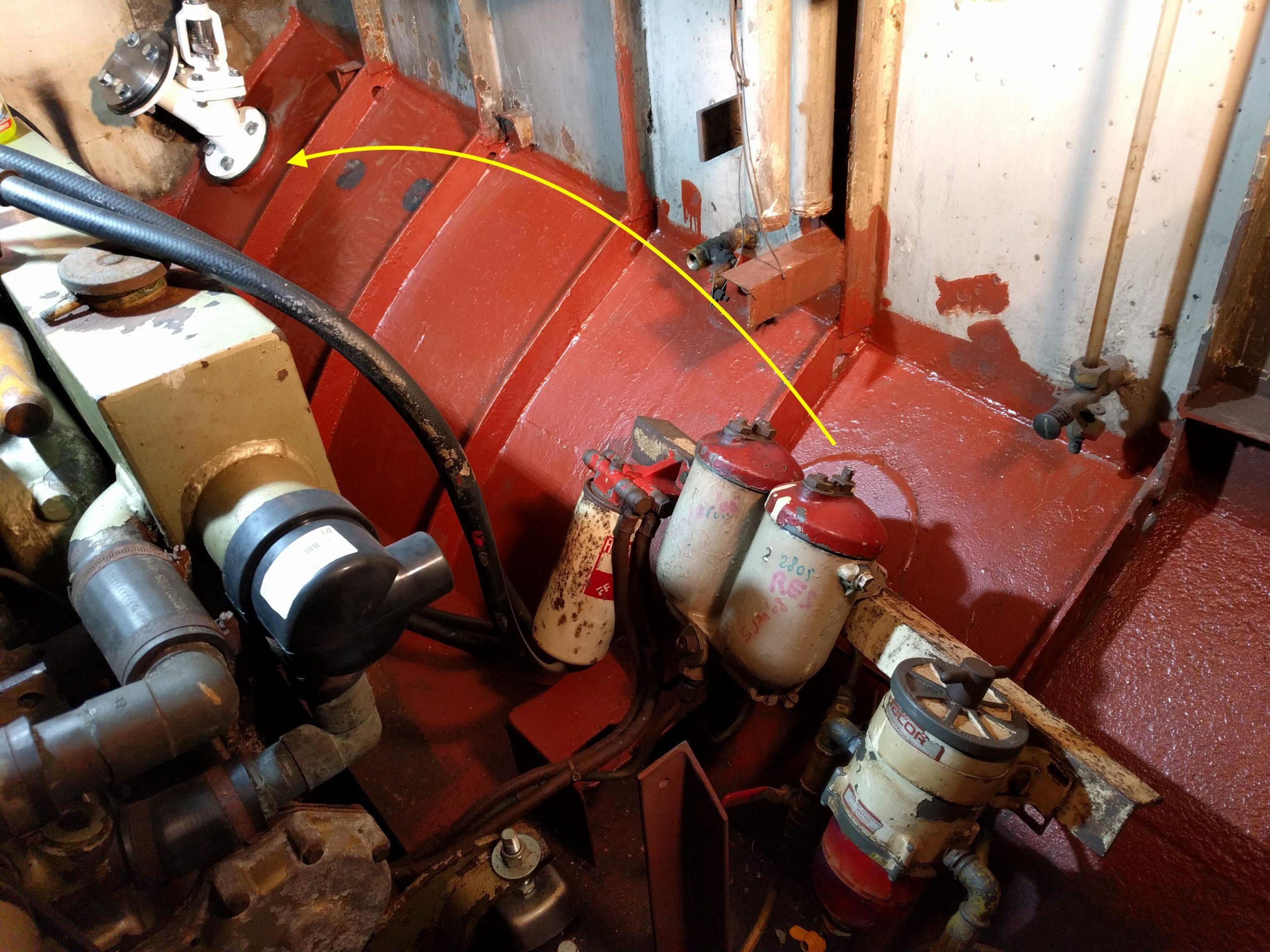 verplaatsing zeeventiel machinekamer Baltic